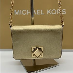 MICHAEL KORS LUNA SM CLUTCH XBODY LEATHER